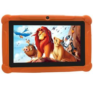 TPAD Kids Tablet T262 7-Inch, 8GB, Wi-Fi, Orange With Free School Kit