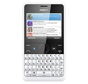 Nokia Asha 210 Mobile Phone, 2.4 Inch Display, 64MB Storage, FM Radio, Bluetooth, Camera - White