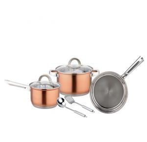 Magnum Steel 7 Pcs. Cookware Set (Copper)