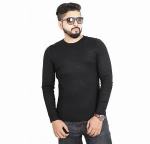 Score Jeans Mens Sweater Full Sleev Black - HF533 - XXL
