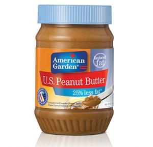 American Garden Reduced Fat Peanut Butter 18 Oz