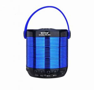 Wster Multy Color Shining Portable Wireless Bluetotoh Speaker With Micro SD And USB Support, WS-883