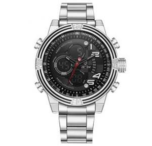 Weide Mens Stainless Steel Band Clocks and Watch - 5209