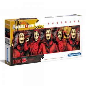 Clementoni Panorama Puzzle La Casa De Papel 1000 PCS, 6800000359