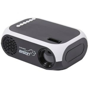 Bison Mini Smart Projector With Remote Control BS900 Black and White