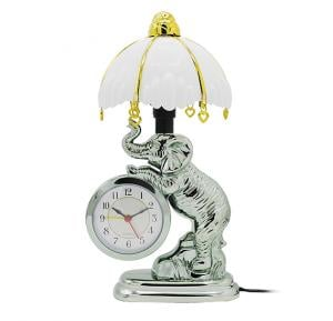 Bait Al Designer Table Clock With Led Lamp elephant Model