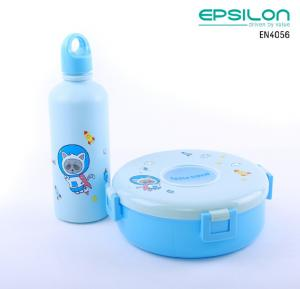 Epsilon Airtight Lunch Box With Water Bottle Blue - EN4056