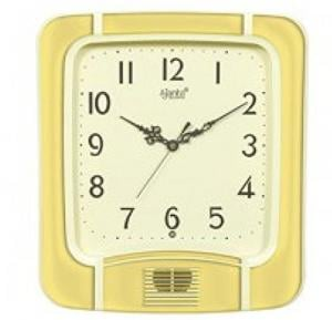 Ajanta Plain Musical Clock (White, 797)