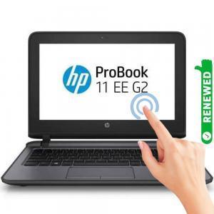 HP Probook 11 G2 Business Laptop 11.6 inch FHD Touch Display Celeron Processor 4GB RAM 128GB SSD Storage Intel HD Graphics 510 Win10, Gray, Renewed