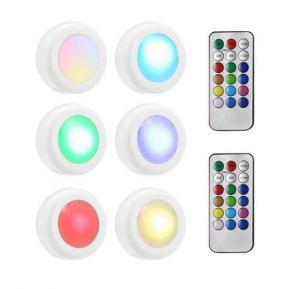 RGB Puck Light, Lesgos Color Changing Led Under Cabinet Lighting With Remote Control