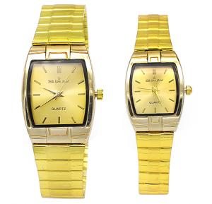 Sumax Leisure Style Couple Watch Set Gold Colour, STGT001