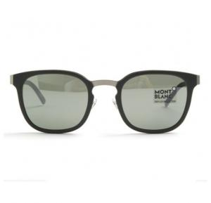 Mont Blanc Wayfarer Dark green Frame & Green Mirrored Sunglasses For Men - MB603S-97Q