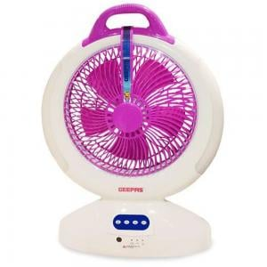 Geepas 12 Inch Ac/Dc Rechargeable Fan/Led Emgency/30Hrs1X2 - Gf7777