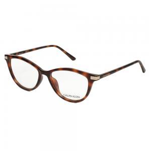 Calvin Klein CK19531 Cat Eye Havana Eyeglasses For Women Crystal Lens, Size 53