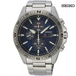 Seiko Prospex Men Analog Solar Watch with Stainless Steel Bracelet, SSC703P1