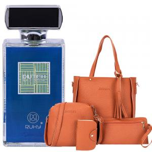 2 in 1 Special Pack Of Jin Ping 4 Set Bag Plus Ruky Dutch Blue Perfume 100 ml