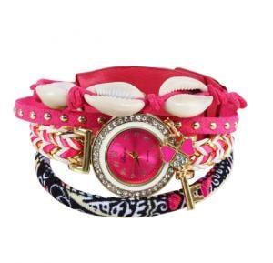 Sea Shell Bracelet Watch pink