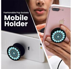 Fashionable Pop Sockets Multi Design Flat Mobile Holder Stand