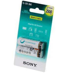 Sony NH-AA-B2GN Rechargable Battery 2500mah 2 Cells