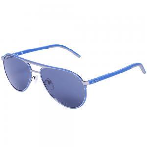 Lacoste L193S Blue Aviator Sunglasses, Size 58