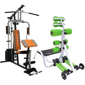 Liveup Single Station Home Gym Weight 100lbs LS1002 Get TA Sports Total Core 2 FT-YW003M Free