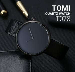 Tomi Analog Quartz Unisex Watches TO78, Black