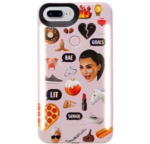 LuMee DUO iPhone 8 Plus Kimoji Multi Pink LD-IP8PKMJI-MP