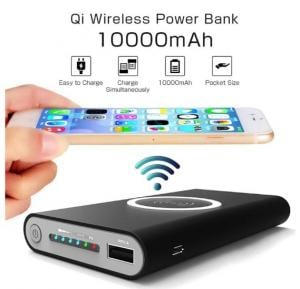 Qi Certified 10000mAh 3 in 1 Wireless Power Bank