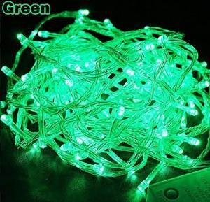 100 LED 10M Multi Function Indoor Outdoor Wedding Party Patio Window Fairy String Dorm Lights, Green
