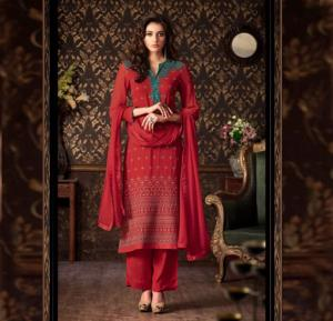 Sahiba Nour 202 Georgette With Embroidery Dress Material