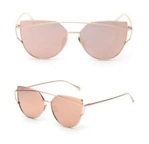 Classic designer Fashion Retro Aviator Women Sunglasses Pink Mirrored Lenses, BTT-01