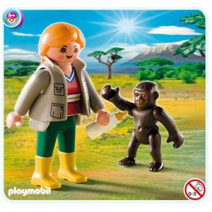 Zoo Keeper With Baby Gorilla, 4757