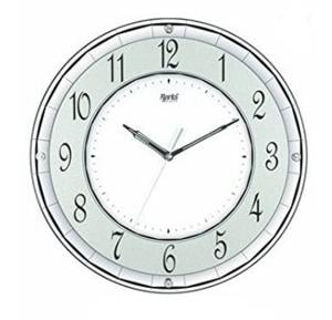 Ajanta Quartz Wall Clock with Round Dail Shape 1917 White For Office and Home