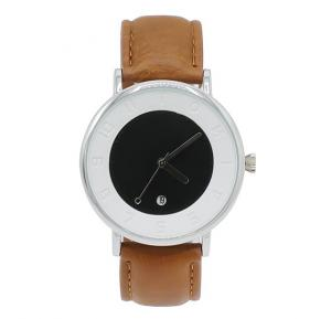 Tomi Analog Quartz Mens Watch T085, Black Brown