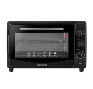 Black And Decor 45L Toaster Oven with Double Glass and Rotisserie,TRO45RDG-B5