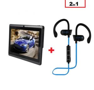 2 In 1 Bundle Offer G Tab Q77 7-inch 8GB Android Wifi Tablet and Wireless Sports Bluetooth Headset RT558