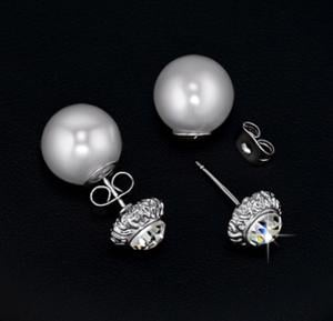 Tiara Elements Duel Sided White Gold Plated Earring - JE0252B