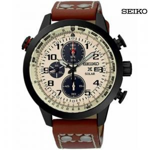 Seiko Men Analog Leather Watch, SSC425P1