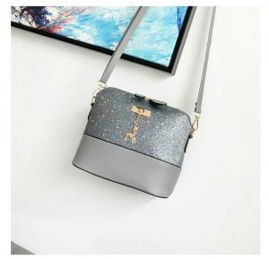 Women Fashion Deer Decore Crossbody Bag, Grey