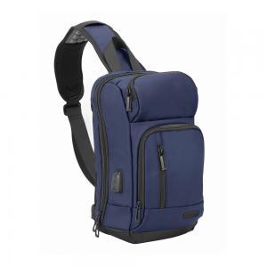 Promate Sling Laptop Backpack Crossbody Water Resistant 13 Inch Laptop Bag with USB Charging Port, TREKPACK-SB.BLUE
