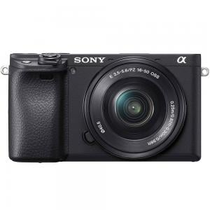 Sony A6400 Digital Mirrorless Camera with 16-50mm Lens Kit, 24.2 MP, Black