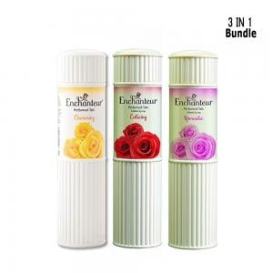 Enchanteur 3 in 1 Talc pack, 250 Gram X 3