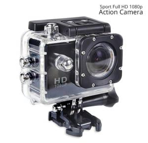 Sport Full HD 1080p Action Camera 30 Meters WaterProof 2 Inch Screen, 120 Degree Wide Angle