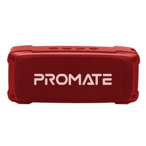 Promate Bluetooth Speaker Premium 6W HD Rugged Wireless Speaker with 4H Playtime Built in Mic FM Radio 3.5mm Aux Port TF Card Slot and USB Media Port, OutBeat Maroon