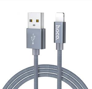 Hoco U44 Timing Charging Data Cable for Lightning Gray