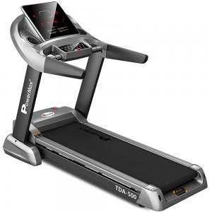 PowerMax Fitness Unisex Adult TDA-500 (6.0 Hp) Motorized Treadmill With Semi Auto Lubrication With 3d Smart Touch Keys For Cardio Workout - Black/Grey, General-Foldable