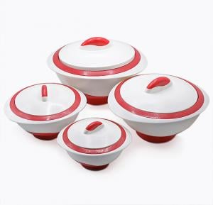 Pinnacle 4 pcs Thermo Casserole  Sets Good Quality, Assorted Color - PK1003