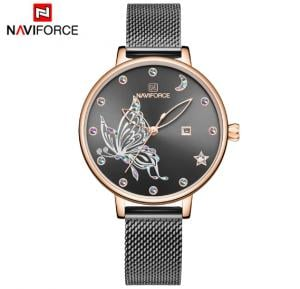 Naviforce Women  Butterfly Stainless Steel  Watch NF5011- Black
