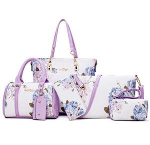 6 pcs womens bags hot new arrival white lavender