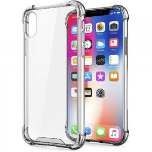 Green Rocky Series 360 Anti-Shock Case iPhone XS, Transparent